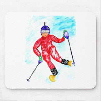 Mousepad Ilustração do esporte do esquiador
