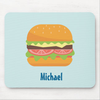 Mousepad Ilustração do Hamburger com tomate e alface