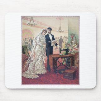 Mousepad Ilustração dos noivos do vintage