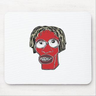 Mousepad Ilustração grotesco da caricatura do homem