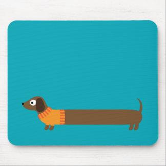 Mousepad Ilustração longa bonito do Dachshund