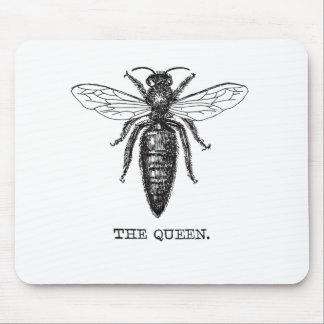 Mousepad Ilustração preto e branco da abelha de rainha