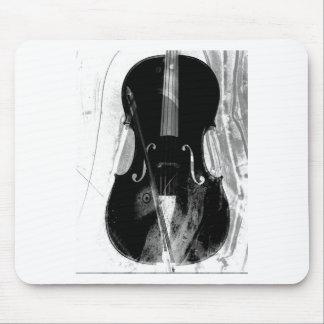 Mousepad Ilustração preto e branco do violoncelo