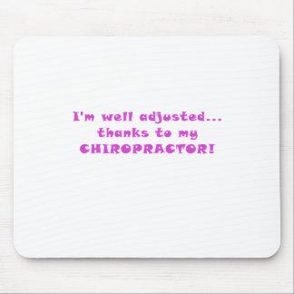Mousepad Im obrigados ajustados poço a meu Chiropractor