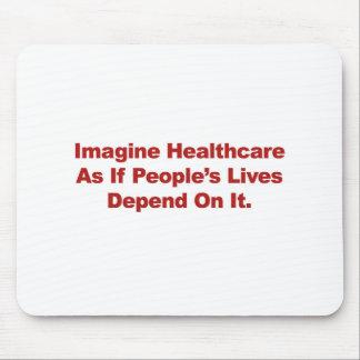 Mousepad Imagine as vidas do pessoa dos cuidados médicos
