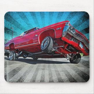 Mousepad Impala 1968 de Chevy do Lowrider do vermelho