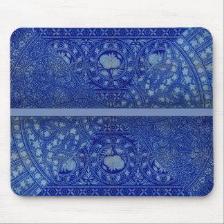 Mousepad Impressão azul REQUINTADO da decoração do