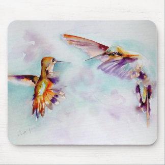 Mousepad Impressão crepuscular do colibri dos dançarinos