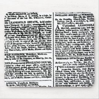 Mousepad Impressão do jornal do vintage