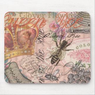 Mousepad Impressão feminino bonito da arte da abelha de