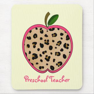 Mousepad Impressão pré-escolar Apple do leopardo do