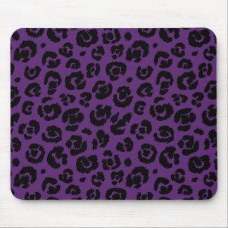 Mousepad Impressão preto roxo do leopardo