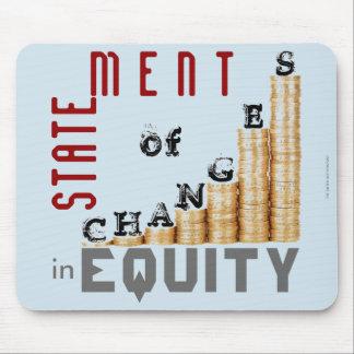 """Mousepad """"Indicação das mudanças na equidade """""""