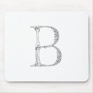 Mousepad Inicial do osso da letra B