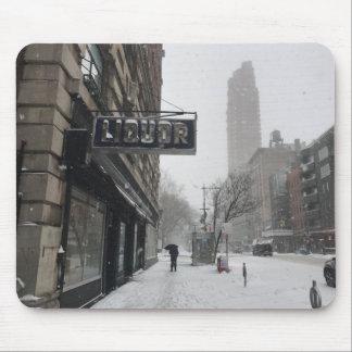Mousepad Inverno da tempestade de neve da loja de bebidas