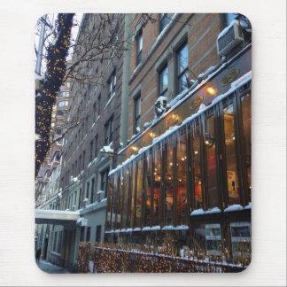 Mousepad Inverno superior NYC da Nova Iorque dos sincelos