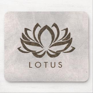 Mousepad Ioga cura da aguarela da flor de Lotus holística