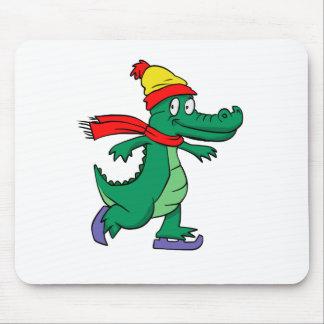 Mousepad Jacaré que patina com chapéu e lenço