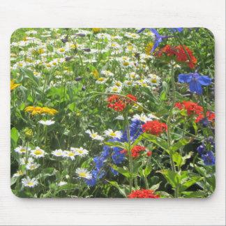 Mousepad Jardim colorido do primavera! Azul de Larkspur