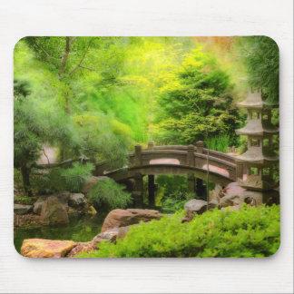 Mousepad Jardim japonês - água sob a ponte