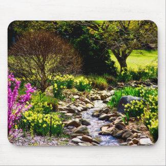 Mousepad jardins botânicos florais do primavera do sul