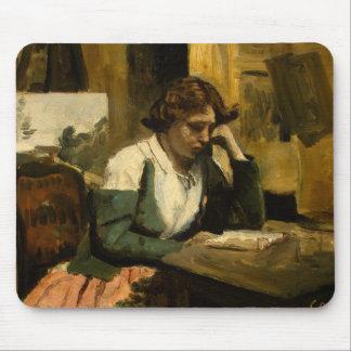 Mousepad Jean-Baptiste-Camilo Corot - leitura da rapariga
