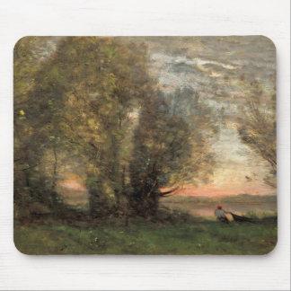 Mousepad Jean-Baptiste-Camilo Corot - pescador