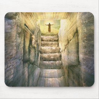 Mousepad Jesus na ressurreição vazia da páscoa do túmulo