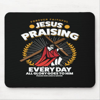 Mousepad Jesus que elogia o tapete do rato cristão