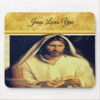 Mousepad Jesus que quebra a textura do ouro de matthew
