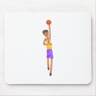 Mousepad Jogador de basquetebol com a etiqueta da ação da