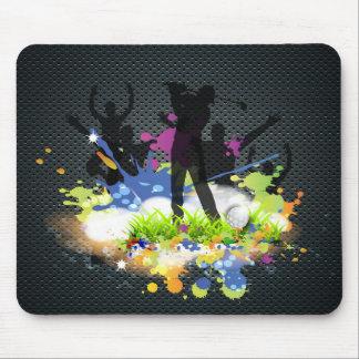Mousepad Jogador de golfe moderno do elogio dos suportes do