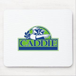 Mousepad Jogador de golfe profissional e Caddie retros