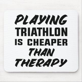 Mousepad Jogar o Triathlon é mais barato do que a terapia