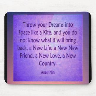 Mousepad Jogue seus sonhos no espaço