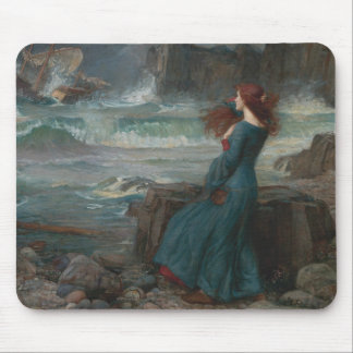Mousepad John William Waterhouse - Miranda - a tempestade