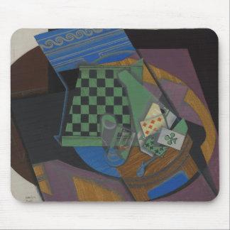 Mousepad Juan Gris - cartões do tabuleiro de damas e de