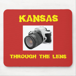 Mousepad Kansas através do tapete do rato da lente