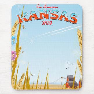 Mousepad Kansas EUA cultiva o poster de viagens retro