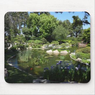 Mousepad Lagoa de Koi do jardim e tapete do rato japoneses