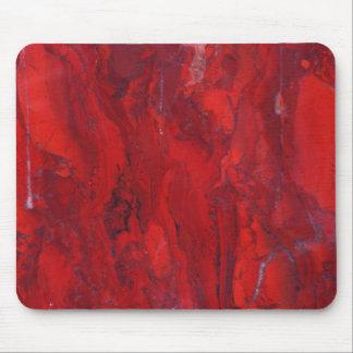 Mousepad Laje de mármore rodada vermelha