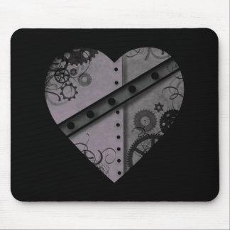 Mousepad Lavanda e coração preto do steampunk