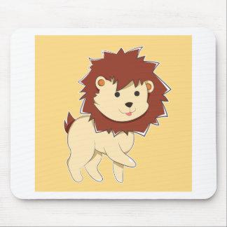 Mousepad Leão feliz do bebê dos desenhos animados