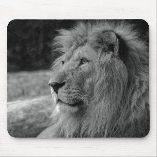 Mousepad Leão preto & branco - animal selvagem