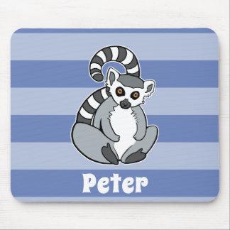 Mousepad Lemur Anel-Atado - animal bonito personalizado