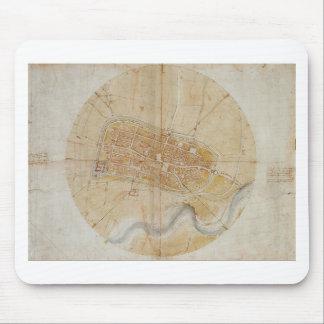 Mousepad Leonardo da Vinci - plano da pintura de Imola