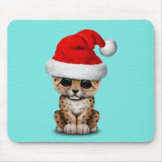 Mousepad Leopardo bonito Cub que veste um chapéu do papai