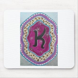 Mousepad Letra K do monograma