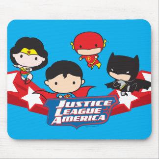 Mousepad Liga de justiça de Chibi de estrelas de América