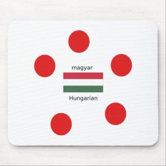 Mousepad Língua de Hungria e design da bandeira